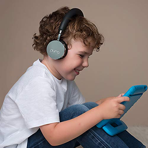 Puro Sound Labs BT2200 On-Ear Headphones Lightweight Portable Kids Earphones with Safe Wireless, Volume Limiting, Bluetooth and Noise Isolation for Smartphones/PC/Tablet - BT2200 Grey by Puro Sound Labs (Image #4)