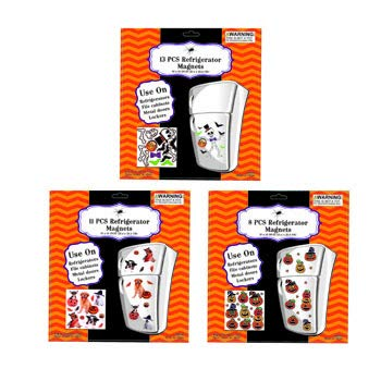 Halloween Jumbo Refrigerator Magnets (Pack of 3 Sets - 32 Pcs) Perfect For Lockers, Fridge & Cabinet Decorations