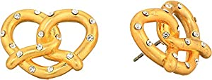 Kate Spade New York Women's Dashing Beauty Pretzel Studs Earrings Clear/Gold One Size