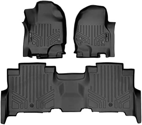 SMARTLINER Floor Mats 2 Row Liner Set Black for 2018-2021 Expedition/Navigator with 2nd Row Bench Seat (Incl. Max and L)
