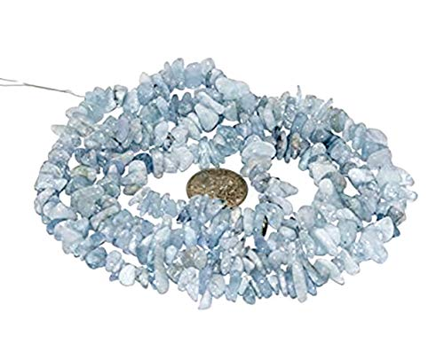 BRCbeads Nice Blue Aquamarine Chips Beads 7~8mm 34 Inches per strand For Jewelery Making