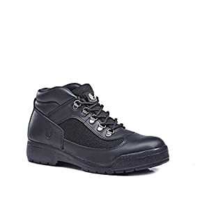 KINGSHOW Men's Classic Work Boots (8 M US Men's, Black)