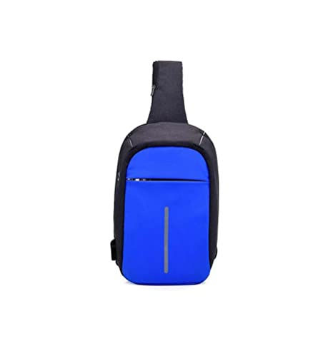 GJX Anti-theft USB Rechargeable Men s Chest Bag Multi-function Outdoor With  Headphones Hole 6392f53607fb0
