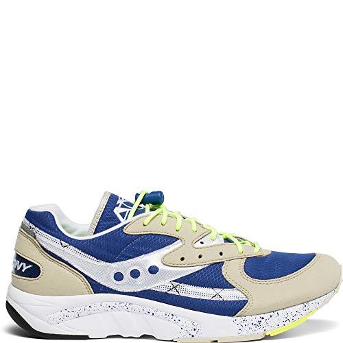 Saucony Originals Men's AYA Sneaker Grey/Blue/neon 8.5 M US