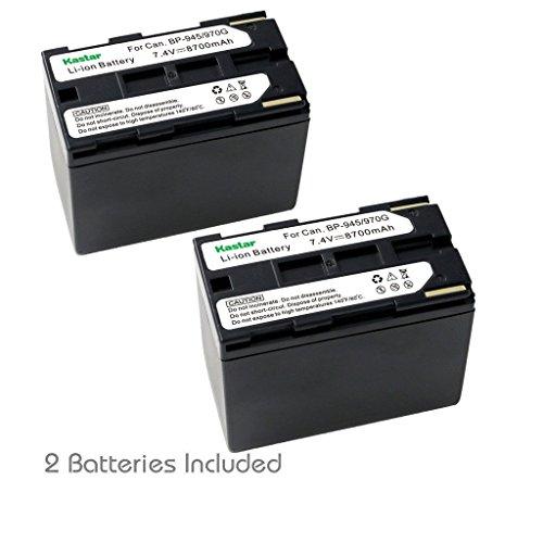 Bp 945 Compatible Battery - Kastar Battery (2-Pack) for Canon BP-945, BP-950, BP-970, Canon C2, FV1, FV500, Optura, Ultura, Vistura, DM-XL2, DM-MV20, E65AS, ES-8600 Hi8, G2000, GL2, MV200i, UC-V300, V75Hi, XH-G1, XL-H1, XM2, XV3