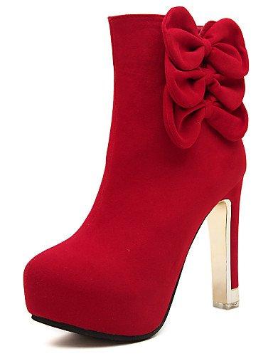 Mujer Red Zapatos Uk6 Red 5 Rojo Cn37 Cn39 Eu37 Eu39 5 Xzz us6 Botas Negro Semicuero 5 Stiletto 7 Uk4 Punta us8 De Redonda Tacón Casual wEqZqdFxT