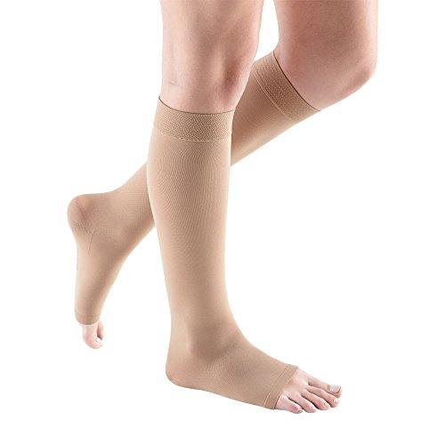 [Medi Comfort Open Toe Knee Highs - 20-30 mmHg Sandstone III] (Medi Comfort Knee High)