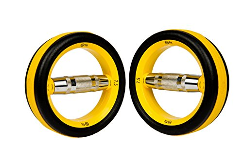 NuBells Dumbells Set, 7.5-Pound, Yellow