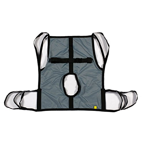 One Piece Commode Patient Lift Sling with Positioning Strap, Full Body 600lb Capacity (Medium)