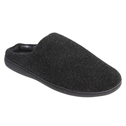 Zedzzz - Zapatillas de estar por casa Modelo Tony Estilo Mule hombre caballero Negro