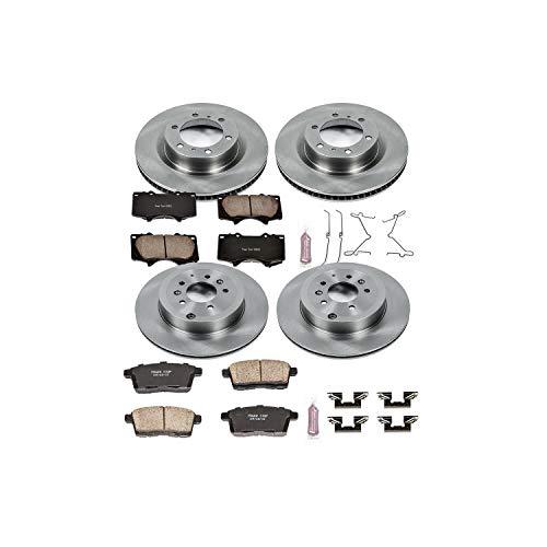 (Power Stop KOE5879 Front and Rear Brake Kit- Stock Replacement Brake Rotors and Ceramic Brake Pads)