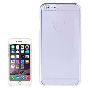 Little Devil Fork Ultra Thin Plating Border plástico transparente Case para iPhone 6(Silver)