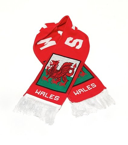 Wales Fan Scarf | National Soccer Rugby Team | Premium Acrylic Knit ()