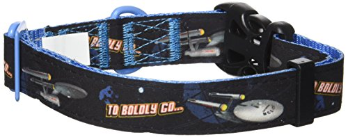 Image of Star Trek Dog Collar Enterprise Large- Boldly go where no other dog has gone before