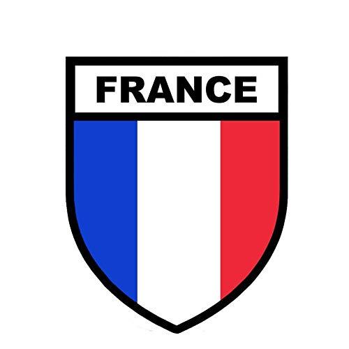 10.5CM13CM France Flag Army Military Car Sticker PVC Motorcycle Decal 6-0822