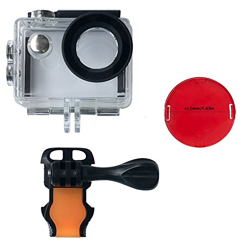 Review VVHOOY Waterproof Case Dive Housing,Protective Underwater Dive Case Shell with 3 Pack Red Filter for AKASO EK7000/EKEN H9R/FITFORT/Mospro FT7500/DROGRACE WP350 Action Camera