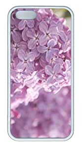 iPhone 5S Customized Unique Landscape Flowers Pink Lilac Flowers New Fashion TPU White iPhone 5/5S Cases