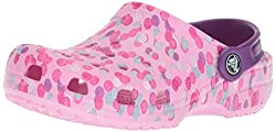 Crocs Unisex-baby Classic Graphic K Clog,carnation,9 M Us Toddler