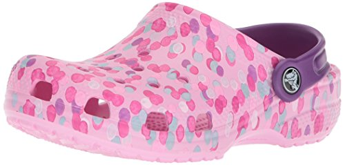 Crocs Kids' Classic Graphic K Clog,Carnation,1 M US Little Kid