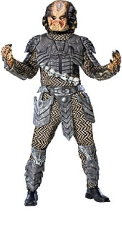 [Aliens Vs Predator Deluxe Predator Costume, Black, Standard Size] (Alien Vs Predator Costume For Kids)