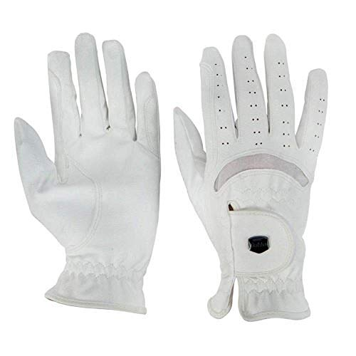 - Dublin Unisex Faux Leather Touch Fastening Dressage Riding Gloves (Adults Medium) (White)