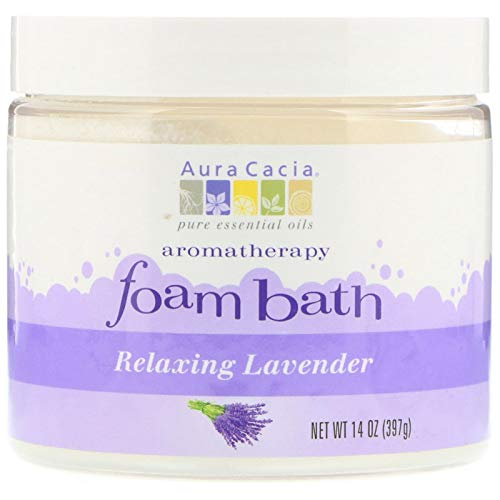 (Aura Cacia Aromatherapy Foam Bath, Relaxing Lavender, 14 ounce jar)