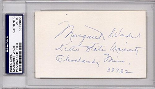 Margaret Wade Signed - Autographed 3x5 inch Index Card for sale  Delivered anywhere in USA
