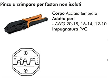 Crimpadora Alicates de crimpar para Faston no aislados 0.5 – 6 mm2 98 – 127