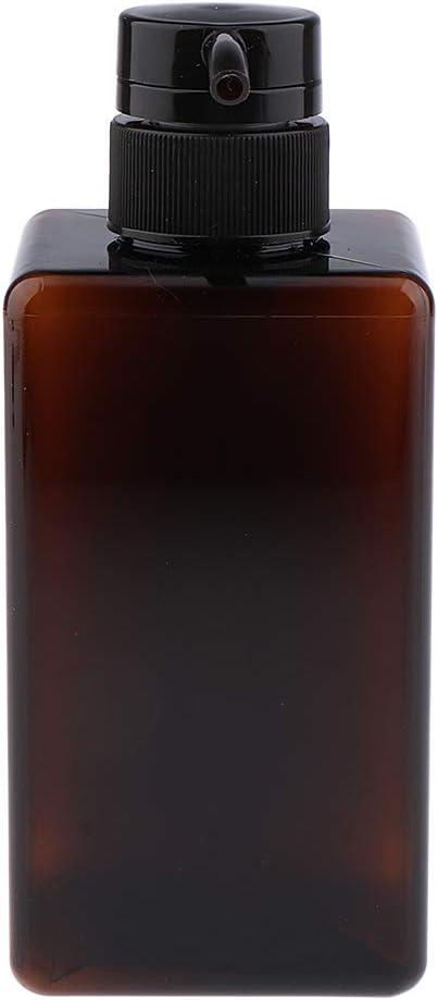 Homyl 2pcs 450 Ml Distributeur de Savon en Plastique Bouteille Vide de Cosm/étique avec Pompe Noir Et Blanc
