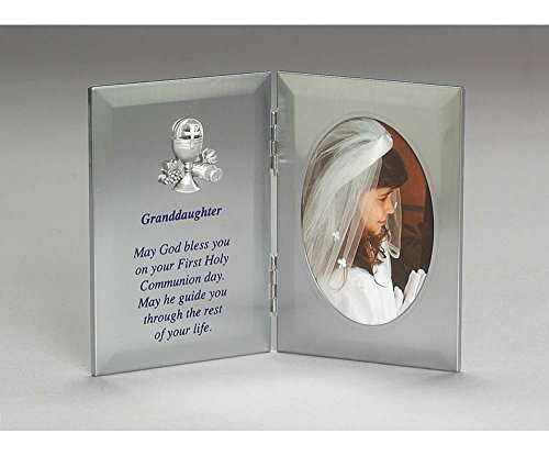 Granddaughter First Holy Communion 7 x 5 Metal Silver Tone Photo Frame