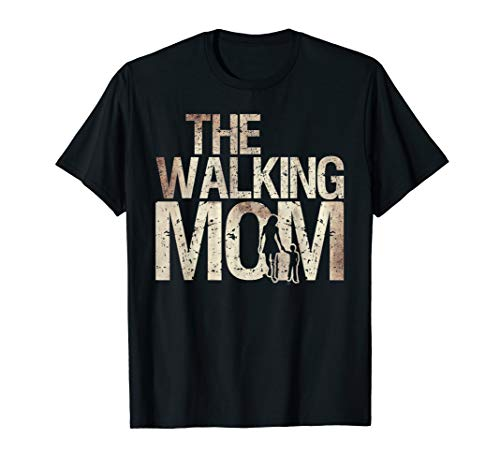 Walking Mom Shirt Zombie Woman And Kid Mother's Day -