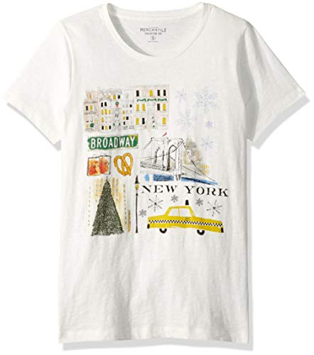 J.Crew Mercantile Women's Plus Size Graphic Crewneck T-Shirt, Ivory/Multi, 2X -