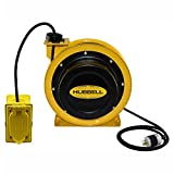 Industrial Duty Cord Reel with G.F.C.I. Duplex Outlet Box, 12/3c x 25' Cable, GCA12325-DR