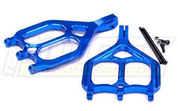 [Integy Hobby RC Model T3019BLUE Evo-5 F/R Upper Arm for T/E-Maxx 3903,3905,3906,3908,4907,4908,4909,4910] (E-maxx Aluminum Chassis)