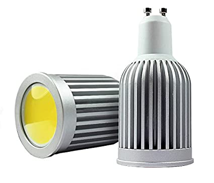 fiveying GU10 10 W COB Bombillas LED, 6000 K Blanco frío, super brillante ahorro