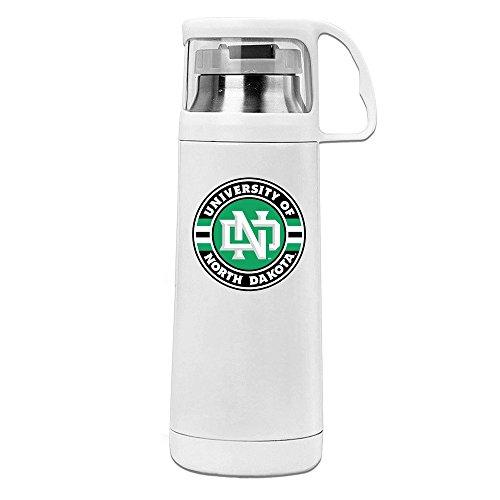 [MeiXue University Of North Dakota Vacuum Cup Water Bottle White] (William Joseph Vest)