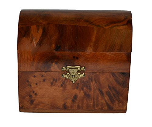 - Thuya Wood Moroccan Handcrafted Chest with Light Wood Small