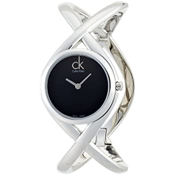 Calvin Klein Womens K2L24102 Enlace Analog Display Swiss Quartz Silver Watch