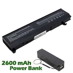 Battpit Bateria de repuesto para portátiles Toshiba Tecra S2-159 (4400 mah) con 2600mAh Banco de energía / batería externa (negro) para Smartphone
