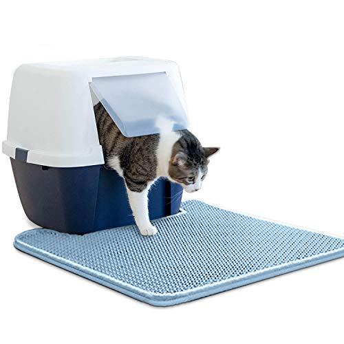 WePet Cat Litter Mat, Kitty Litter Trapping Mat, Small Size, Honeycomb Double Layer Mats, No Phthalate, Urine Waterproof…