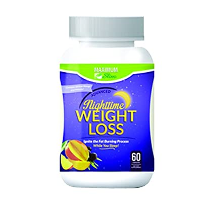 Maximum Slim Advanced Nighttime (Fat Burning) Weight Loss with African Mango, Green Tea, Resveratrol, and Maqui Berry ,Will Help You Lose Weight while Sleeping and maintain Sleep