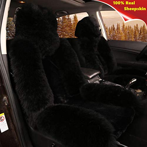 fluffy black car seat covers - 6