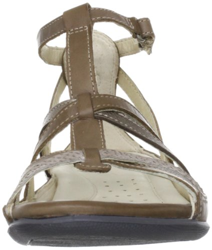 Ecco Donna Sand Sandalo Gladiatore Basso Navajo Marrone / Moon Rock / Warm Grey