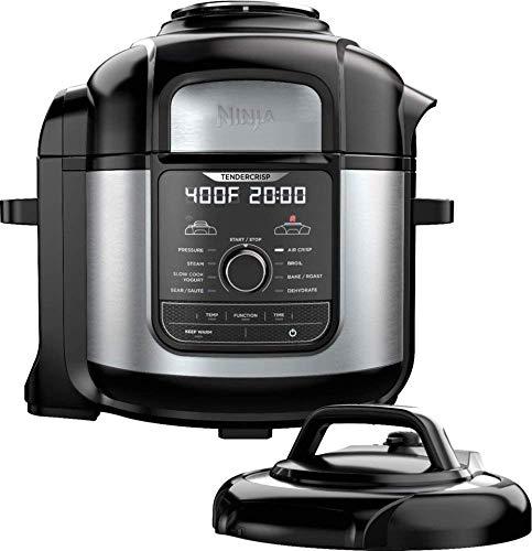 Ninja - Ninja Foodi 8qt. 9-in-1 Deluxe XL Pressure Cooker & Air Fryer - Stainless Steel/Black (Renewed)
