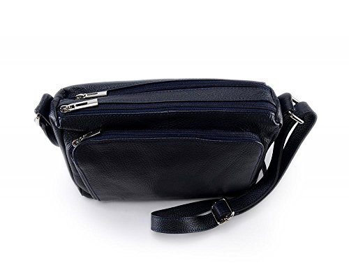 Manatan Fonce à femme main MY bandoulière BAG Modèle Sac Bleu OH en cuir x1qw6BvvC