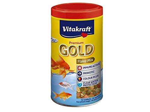 Vitakraft - 20913 - Gold Aliment en Flocons pour Poissons Rouges - 1 L