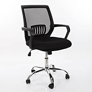 VECELO Ergonomically Adjustable Office Desk Chair Mid Back Mesh