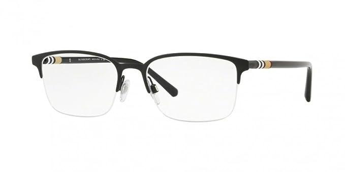 4c900a0bd0e7 Burberry Men s BE1323 Eyeglasses Black Rubber 54mm at Amazon Men s Clothing  store