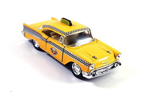 Ford Taxi Cab - HCK Chevy Bel Air Taxi Cab Diecast Model Toy Car Yellow