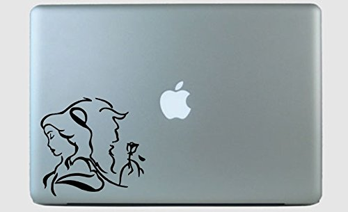 - Beauty and Beast Side by Side Vinyl Decal Sticker Black